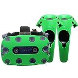 Funda de protección - Auriculares y mandos - Silicona - HTC Vive Pro (Verde)