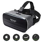 HAMSWAN Gafas de Realidad Virtual con Auriculares, [Regalos] 3D VR Googles con...