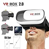 Gafas 3D VR Box Realidad Virtual Video Version Carton para 4.7'a 6' Universales
